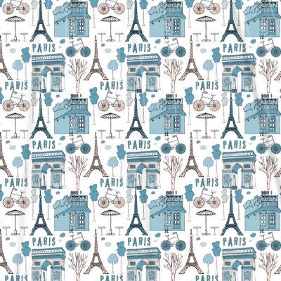 Inspired Surroundings Paris Shower Curtain