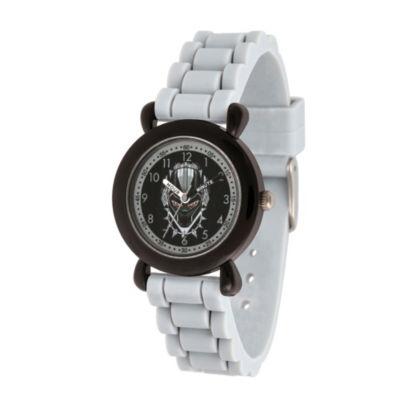 Black Panther Boys Gray Strap Watch-Wma000284