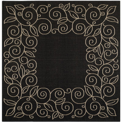 Safavieh Courtyard Collection Kiaran Floral Indoor/Outdoor Square Area Rug