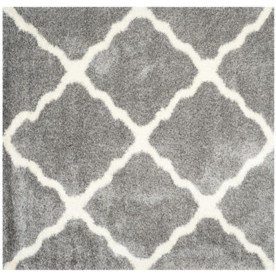 Safavieh Montreal Shag Collection Grover GeometricSquare Area Rug