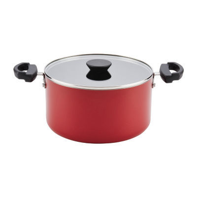 Farberware 6-Qt. Covered Aluminum Dishwasher Safe Non-Stick Stockpot
