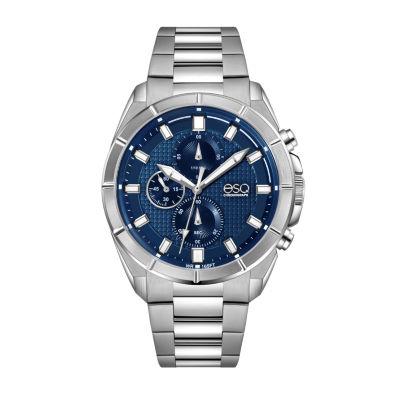 Esq Mens Silver Tone Bracelet Watch-37esq013001a
