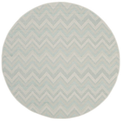 Safavieh Courtyard Collection Duncan Geometric Indoor/Outdoor Round Area Rug