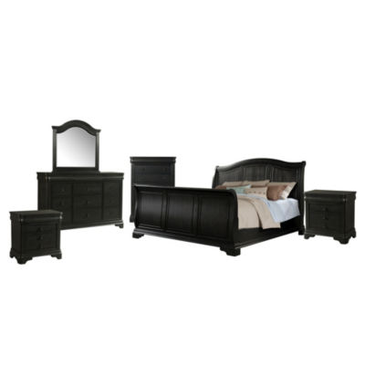 Picket House Furnishings Conley Charcoal Sleigh 6-pc. Set