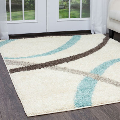 Nicole Miller Synergy Quill Abstract Rectangular Rug