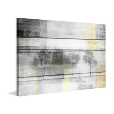 Peaceful Greys Painting Print on Wrapped Canvas