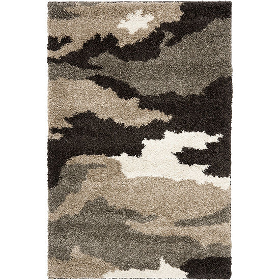 Safavieh Shag Collection Aleah Camouflage Area Rug