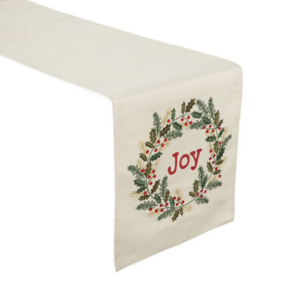 North Pole Trading Co. Wreath Table Runner