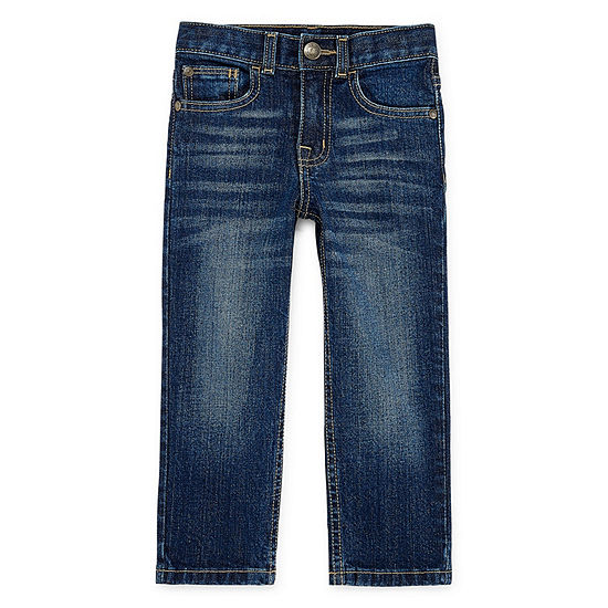 Okie Dokie Toddler Boys Stretch Straight Leg Jean