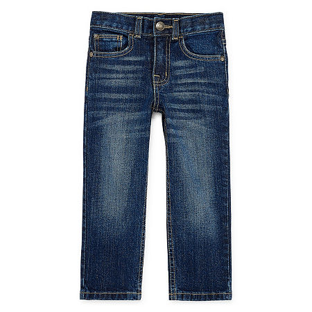 Okie Dokie Toddler Boys Straight Straight Fit Jean, 4t , Blue