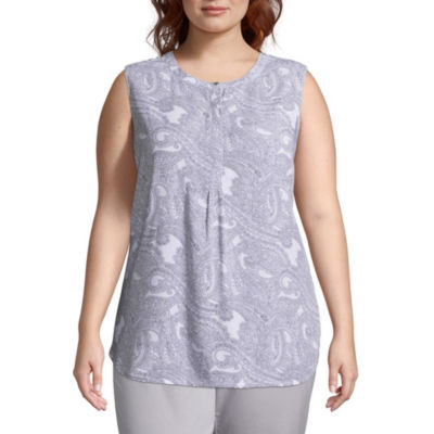 Liz Claiborne Studio Henley Top- Plus