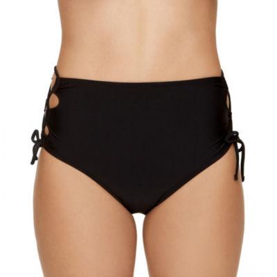 Arizona High Waist Swimsuit Bottom-Juniors