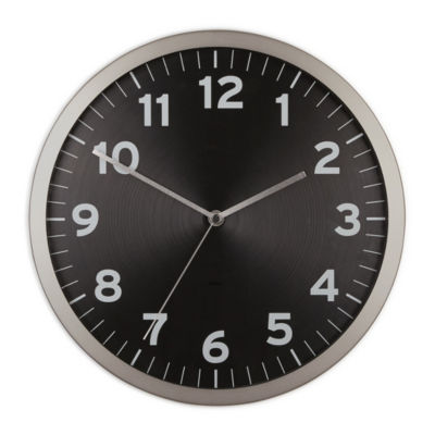 Umbra Anytime Clock 12.5in Black Wall Clock-1005476-040
