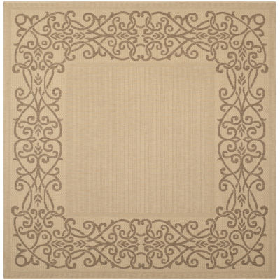 Safavieh Courtyard Collection Dara Oriental Indoor/Outdoor Square Area Rug