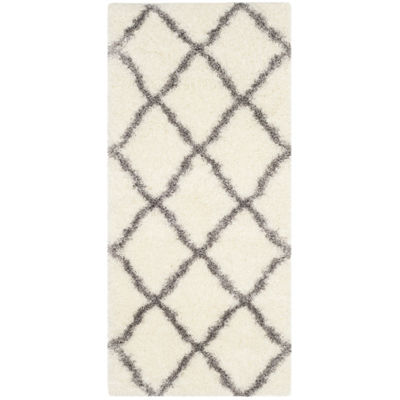 Safavieh Montreal Shag Collection Grover GeometricRunner Rug