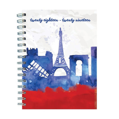 Tf Publishing July 2018 - June 2019 Paris Medium Weekly Monthly Planner