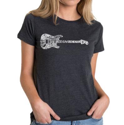Los Angeles Pop Art Women's Premium Blend Word ArtT-shirt - Rock Guitar