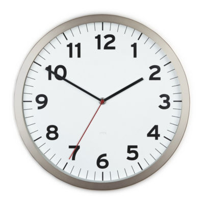 Umbra Anytime Clock 12.5in White Wall Clock-1005476-660
