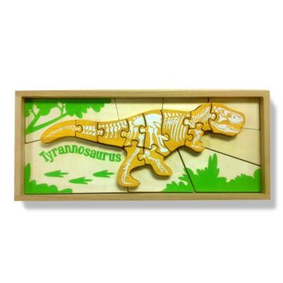 Beginagain Toys Dino Skeleton 2-Sided Jigsaw Puzzle - Tyrannosaurus