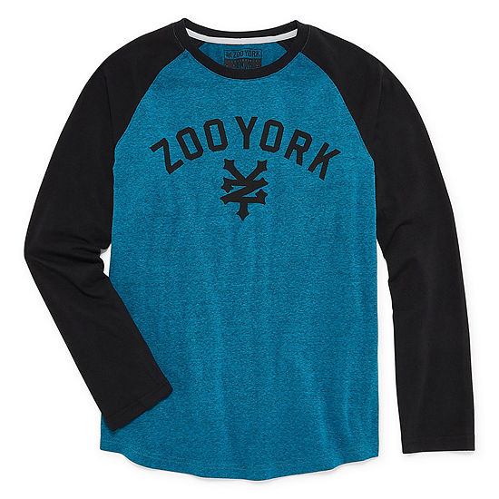 Zoo York Boys Crew Neck Long Sleeve Graphic T-Shirt - Big Kid Husky