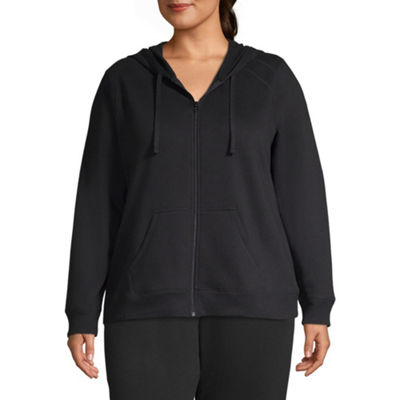 St. John's Bay Active Fleece Zip Up Hoodie - Plus