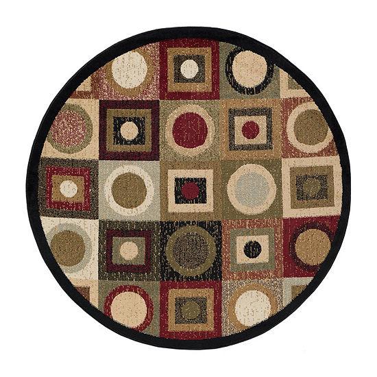 Tayse Ethan Contemporary Geometric Round Area Rug