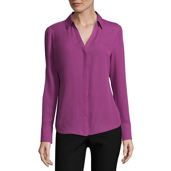 Worthington V-neck Regular Fit Blouse