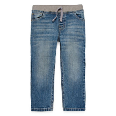 Okie Dokie Pull-On Straight Fit Jeans-Toddler Boys