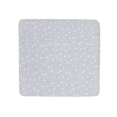 Carters Sateen Crib Sheet- Grey Stars