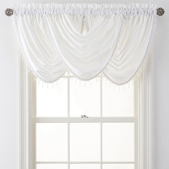 JCPenney Home Plaza Thermal Interlined Rod-Pocket Waterfall Valance