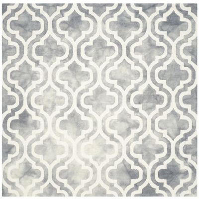 Safavieh Dip Dye Collection Elfrida Geometric Square Area Rug