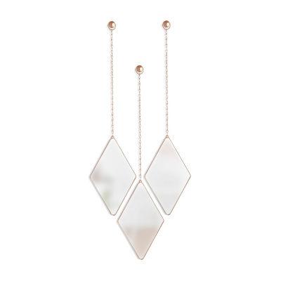 Umbra Dima Mirror 3 Copper 3-pc. Wall Mirror