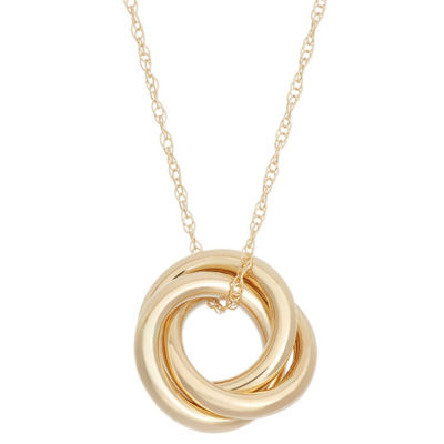Made In Italy Womens 14K Gold Knot Pendant Necklace