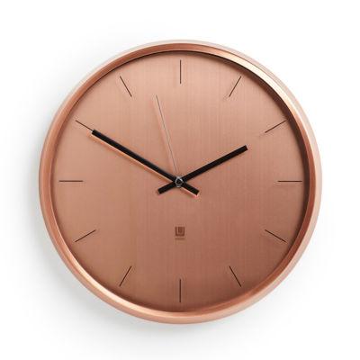 Umbra Meta Wall Clock 12.5in Copper Wall Clock-1004385-880