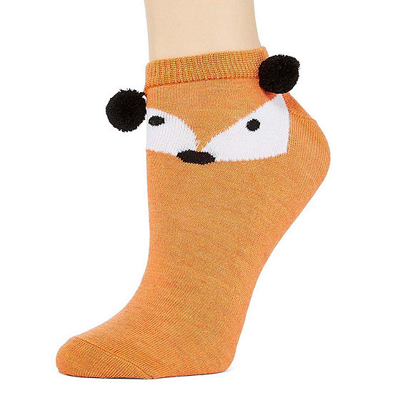 Mixit Womens 1 Pk Critter Low Cut Socks