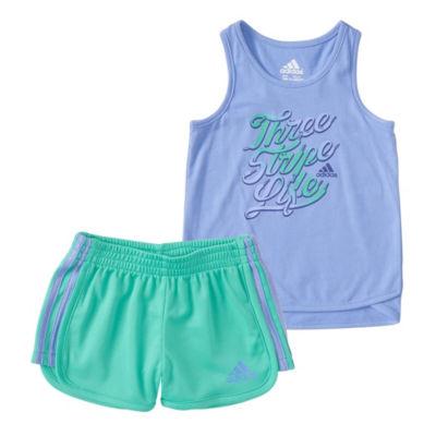 adidas 2-pack Short Set Toddler Girls