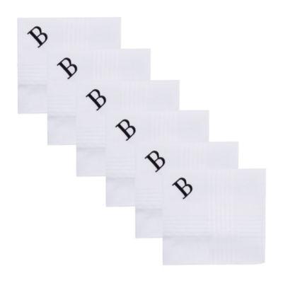 Dockers Men's 6-Pack Monogram Handkerchiefs B