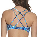 Sun and Sea Trading Company Tropical Haze Lace Up Bikini Top