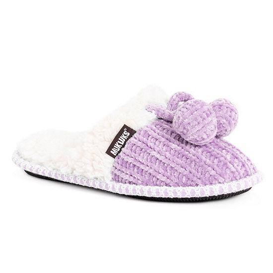 Muk Luks Chenille Perlyn Womens Slip-On Slippers