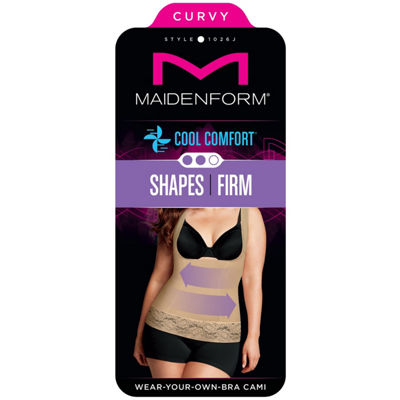 Maidenform Curvy Firm Foundations Wear Your Own Bra Firm Control Shapewear Camisole-1026j