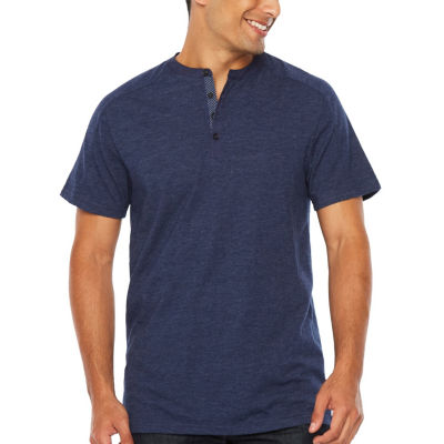 Society Of Threads Short Sleeve Henley Shirt-Big and Tall