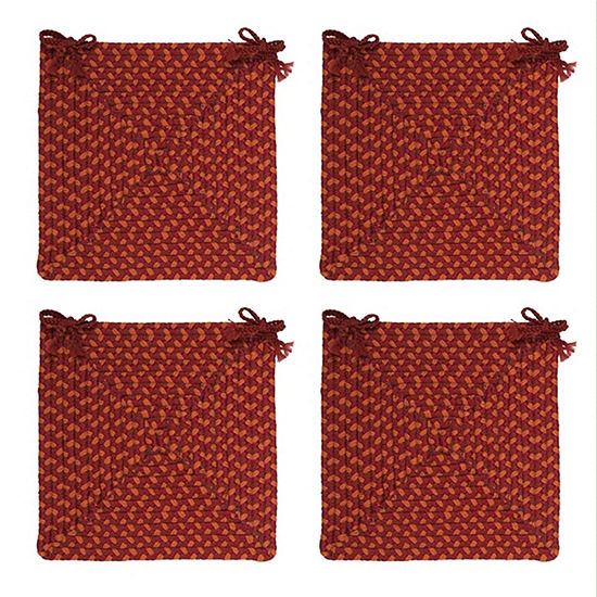 Colonial Mills® Braided Montego Chair Pads Set or Single Indoor/Outdoor Use