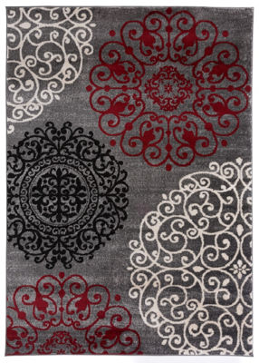 World Rug Gallery Contemporary Modern Floral AreaRug