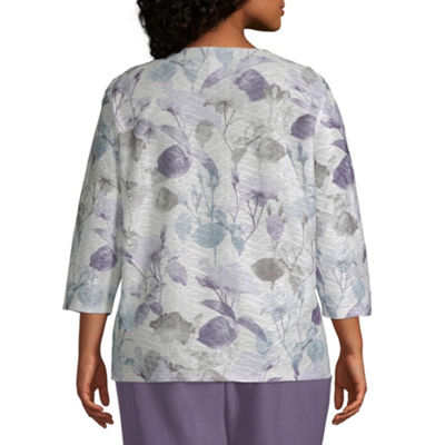 Alfred Dunner Smart Investments Shadow Floral Tee - Plus