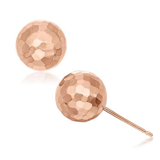 14K Rose Gold 8mm Stud Earrings