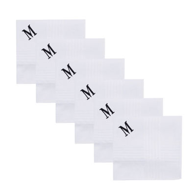 Dockers Men's 6-Pack Monogram Handkerchiefs