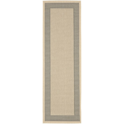 Safavieh Courtyard Collection Trina Bordered Indoor/Outdoor Runner Rug