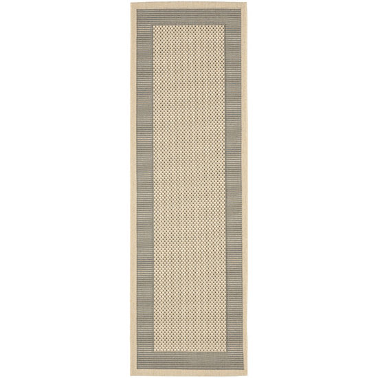 Safavieh Courtyard Collection Trina Bordered Indoor Outdoor Runner Rug