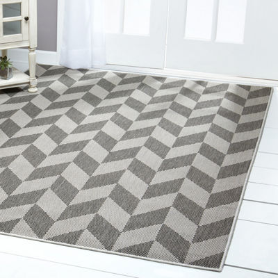 Nicole Miller Patio Country Calla Geometric Rectangular Indoor/Outdoor Area Rug