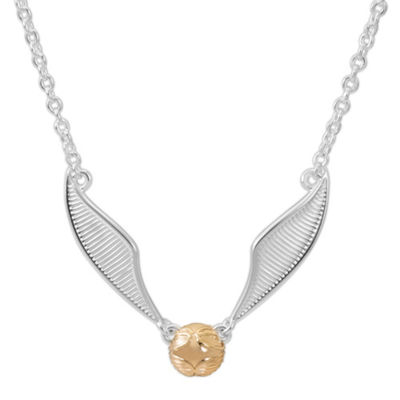 Warner Bros Quidditch Golden Snitch Womens Harry Potter Pendant Necklace